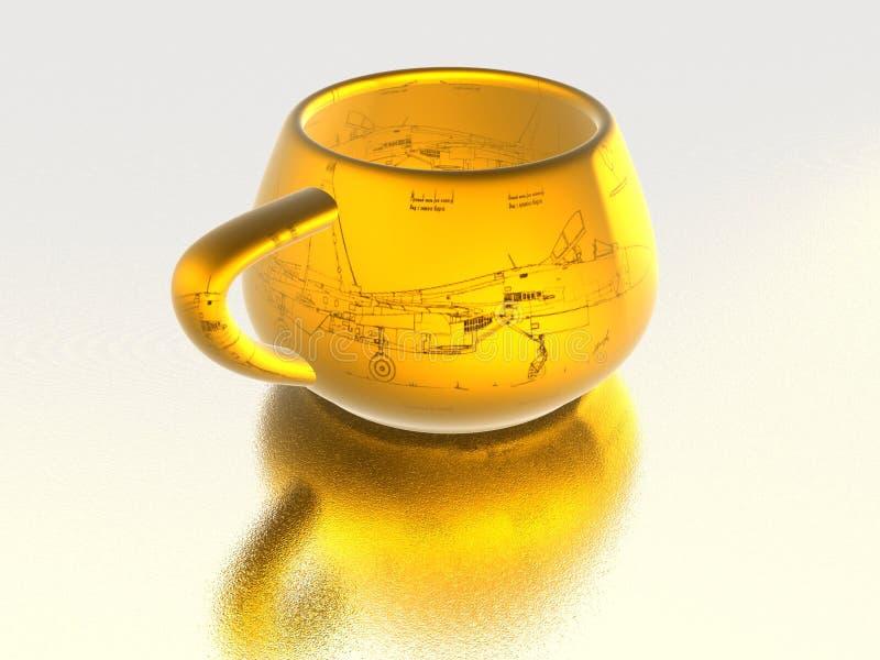 чашка золотистая бесплатная иллюстрация