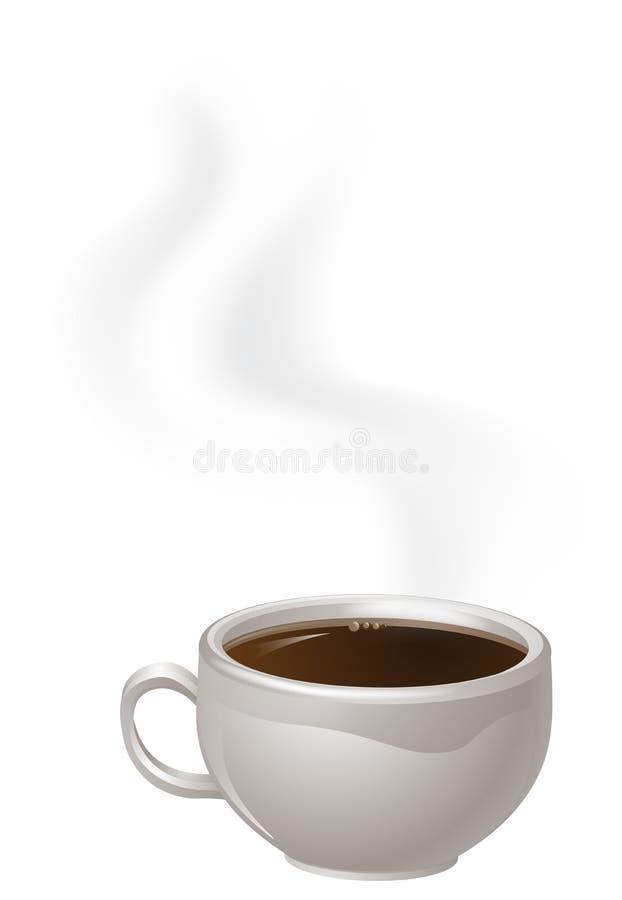 Чашка испаряться кофе иллюстрация штока