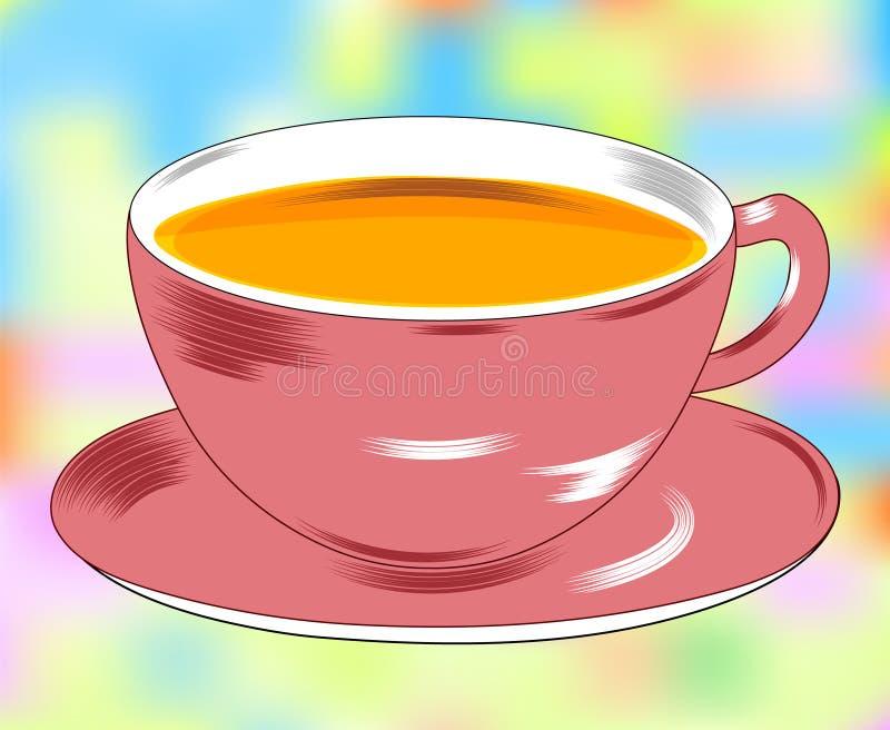 Чашка и поддонник В изоляции Красивая предпосылка, современные иллюстрации иллюстрация штока