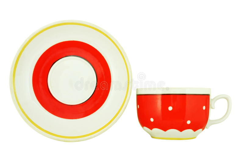 Чашка и поддонник стоковое изображение rf
