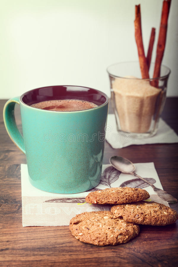 Чашка какао стоковые изображения rf