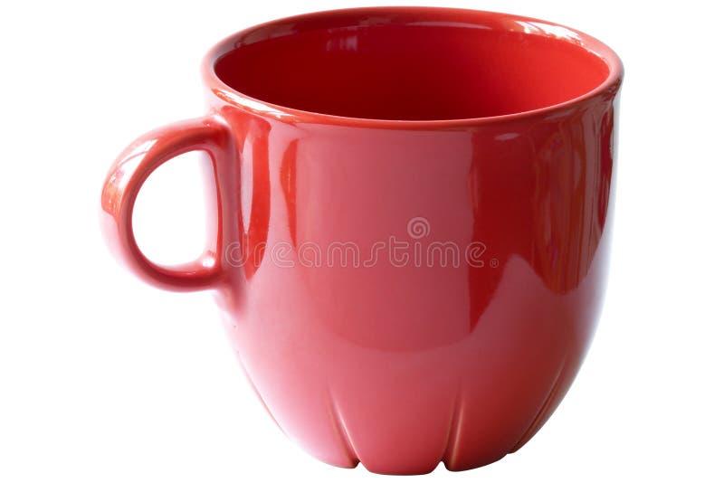 чашка клиппирования меньший чай красного цвета путя стоковое изображение