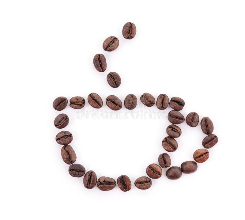 Чашка кофейных зерен стоковое фото rf