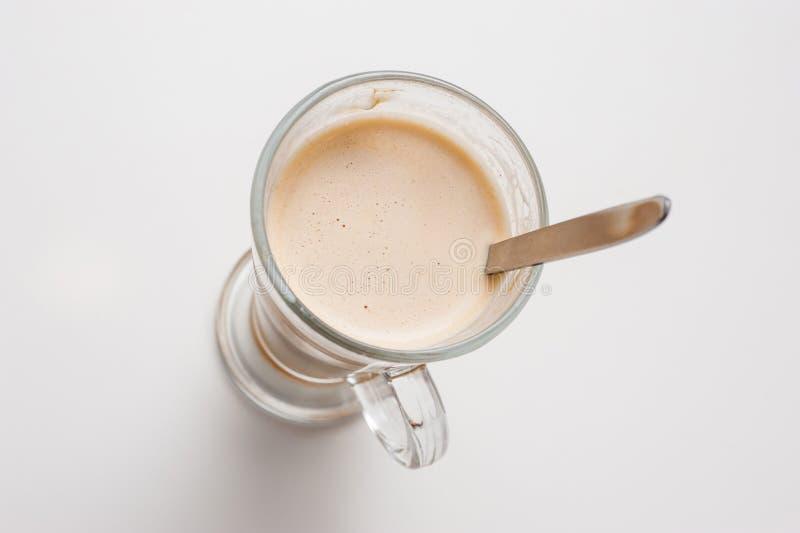 Download Чашка кофе, взгляд сверху стоковое фото. изображение насчитывающей brougham - 81803264