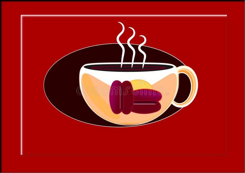 Чашка кофе в любое время иллюстрация вектора