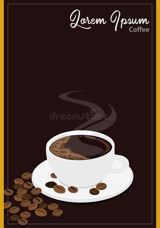 Чашка кофе для иллюстрации вектора концепции ярлыка иллюстрация вектора