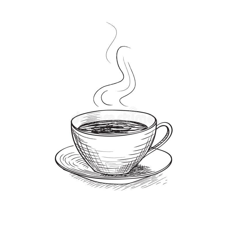 Чашка кофе Значок перерыва на чашку кофе иллюстрация штока