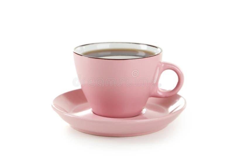 Чашка кофе изолированная на белизне стоковое изображение