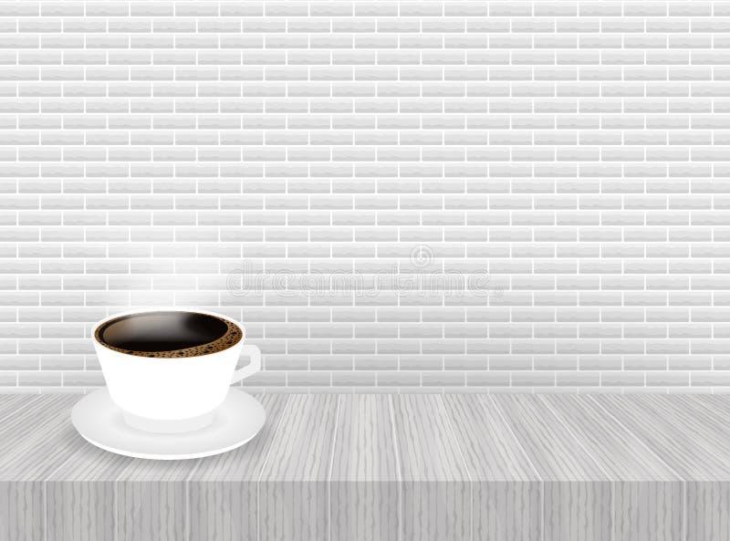 Чашка кофе и поддонник, реалистические r бесплатная иллюстрация