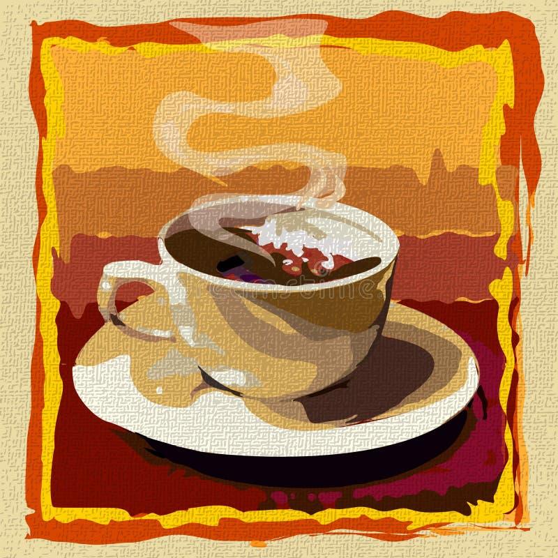 Download Чашка кофе иллюстрация вектора. иллюстрации насчитывающей горяче - 37931989