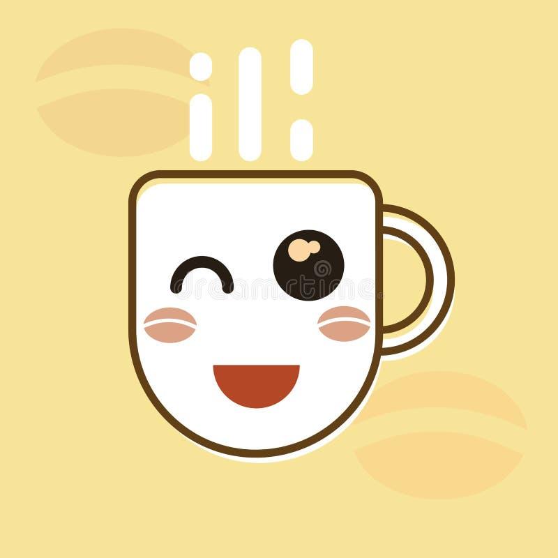 Чашка кофе иллюстрация штока