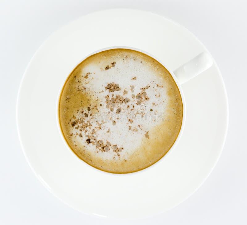 Чашка кофе, latte или капучино стоковое изображение rf