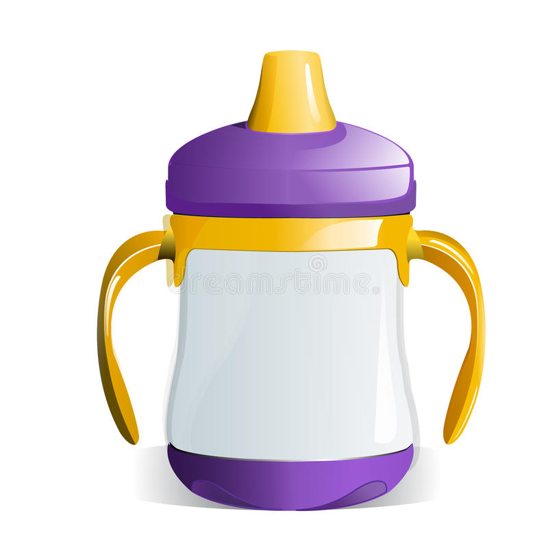 чашка младенца sippy иллюстрация штока