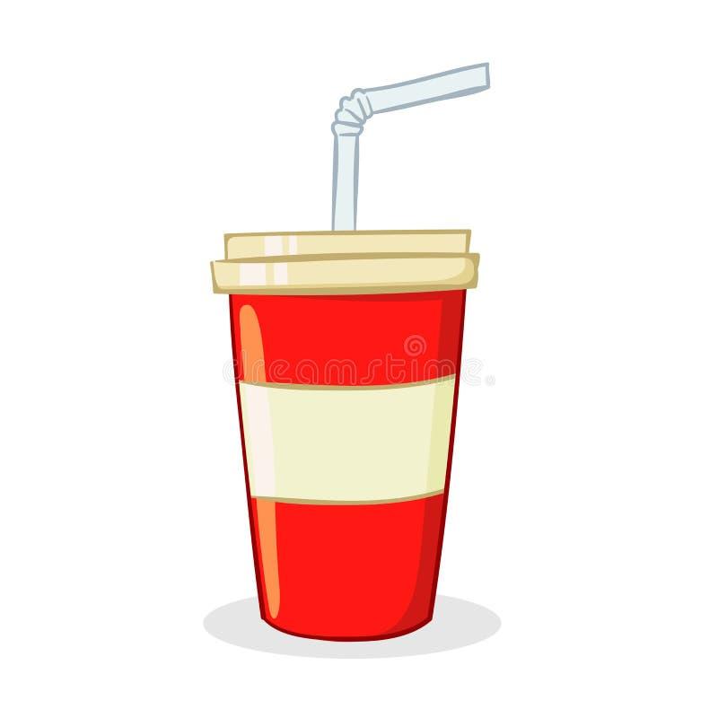 Чашка питья соды иллюстрация вектора