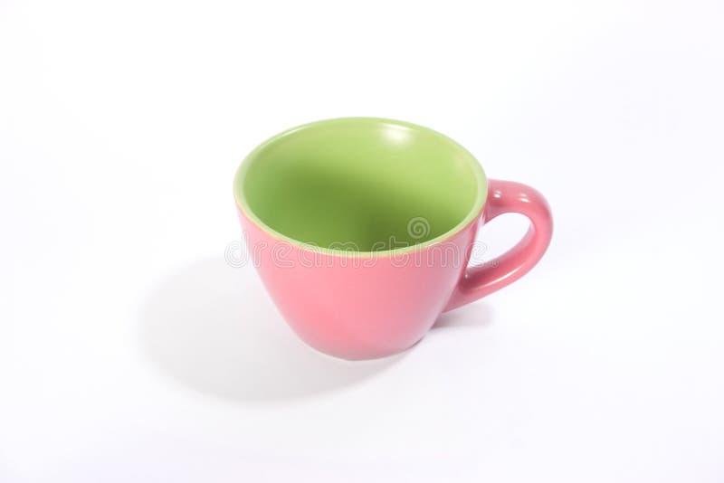 чашка розовая определяет Стоковое Фото