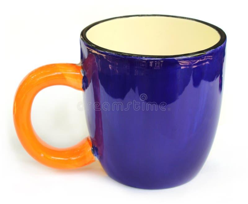 чашка сини близкая вверх стоковые фотографии rf