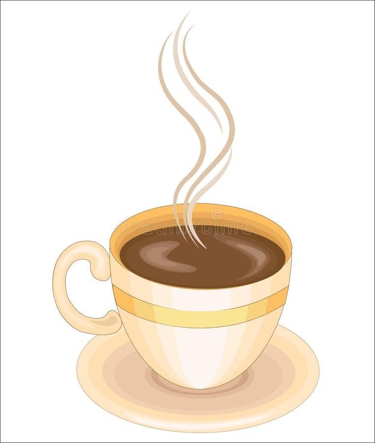 Чашка с горячим напитком, чаем или кофе Квенчи жаждут и веселятся Вкусно пить после завтрака, обеда и обеда иллюстрация вектора