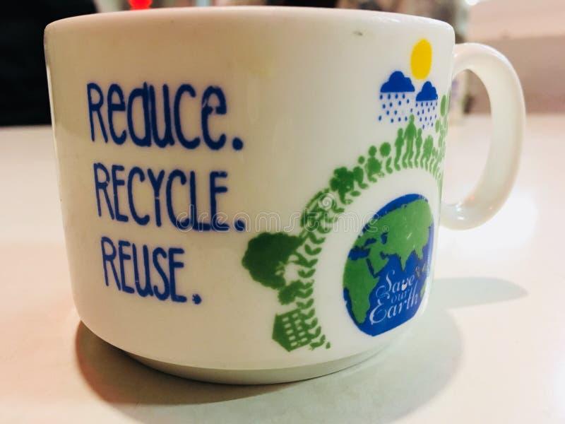 Чашка с цитатой стоковые фотографии rf