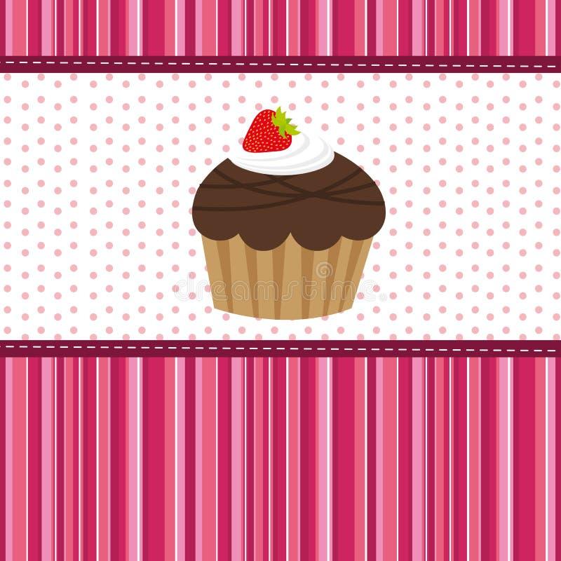 чашка торта иллюстрация штока