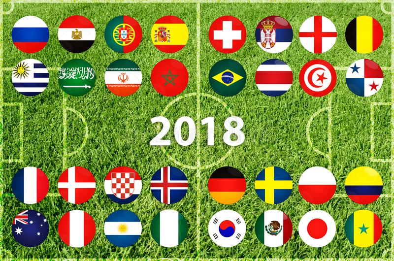 Чашка футбола в России 2018 иллюстрация штока