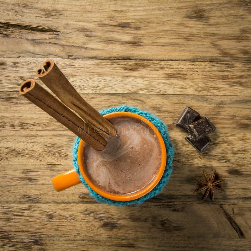 чашка шоколада горячая стоковая фотография