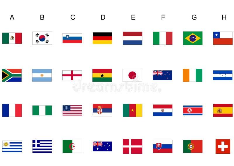 чашка flags мир иллюстрация вектора