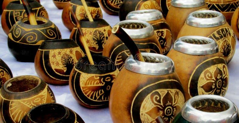 Чашки ответной части Yerba стоковое изображение