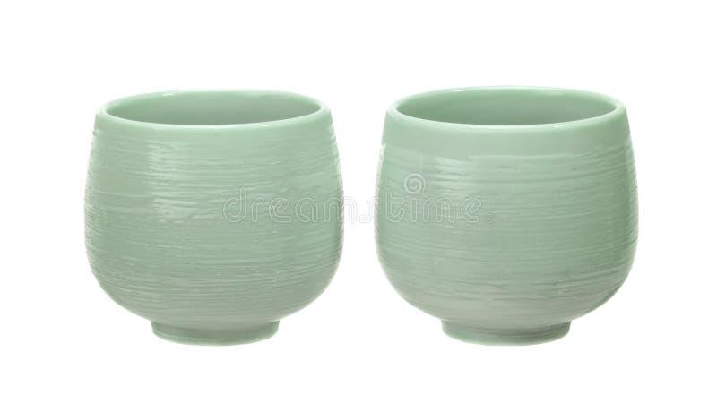 Чашки чая Японии стоковые изображения rf