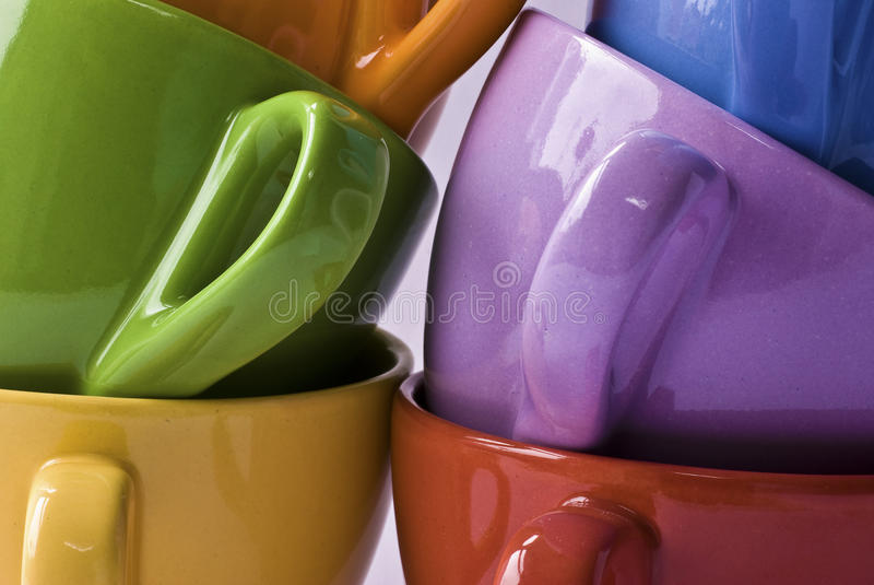 чашки colorfull стоковое фото