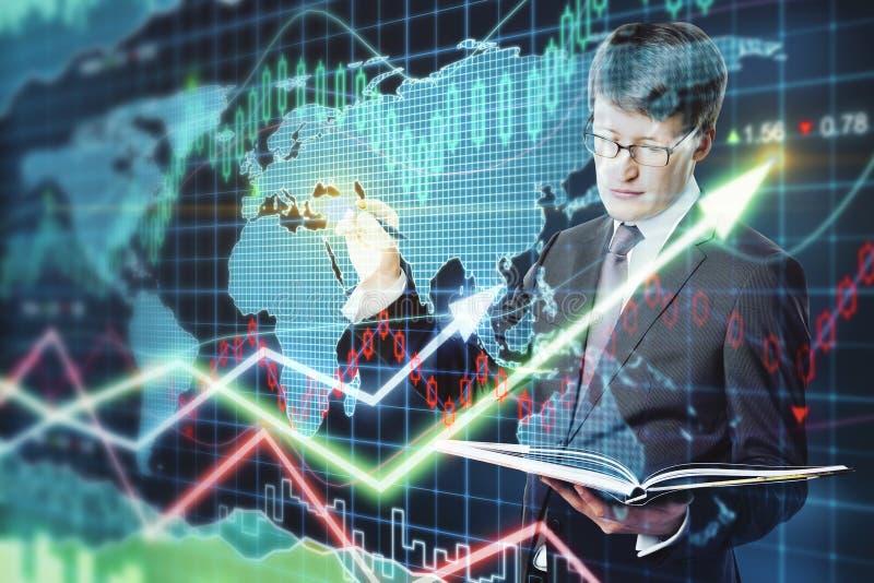 чалькулятор чеканит экономию принципиальной схемы над стогами белыми стоковое изображение rf