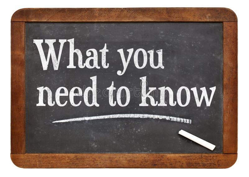 Чего вам нужно знать стоковая фотография rf
