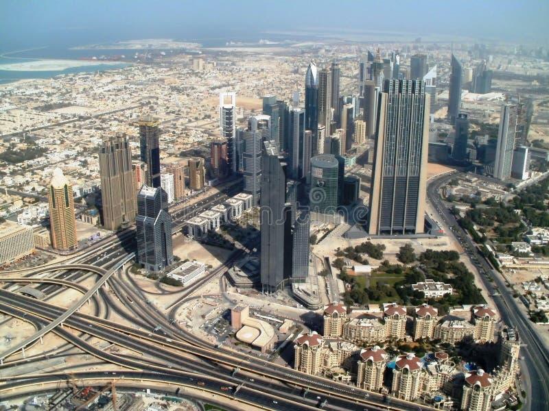 Чего вы видите от самого высокорослого здания в мире? стоковое изображение