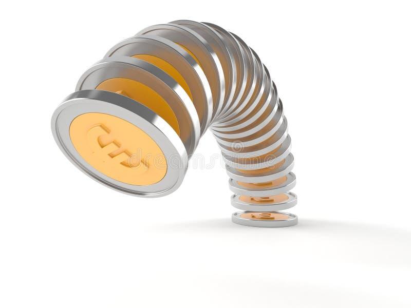 чеканит евро иллюстрация вектора