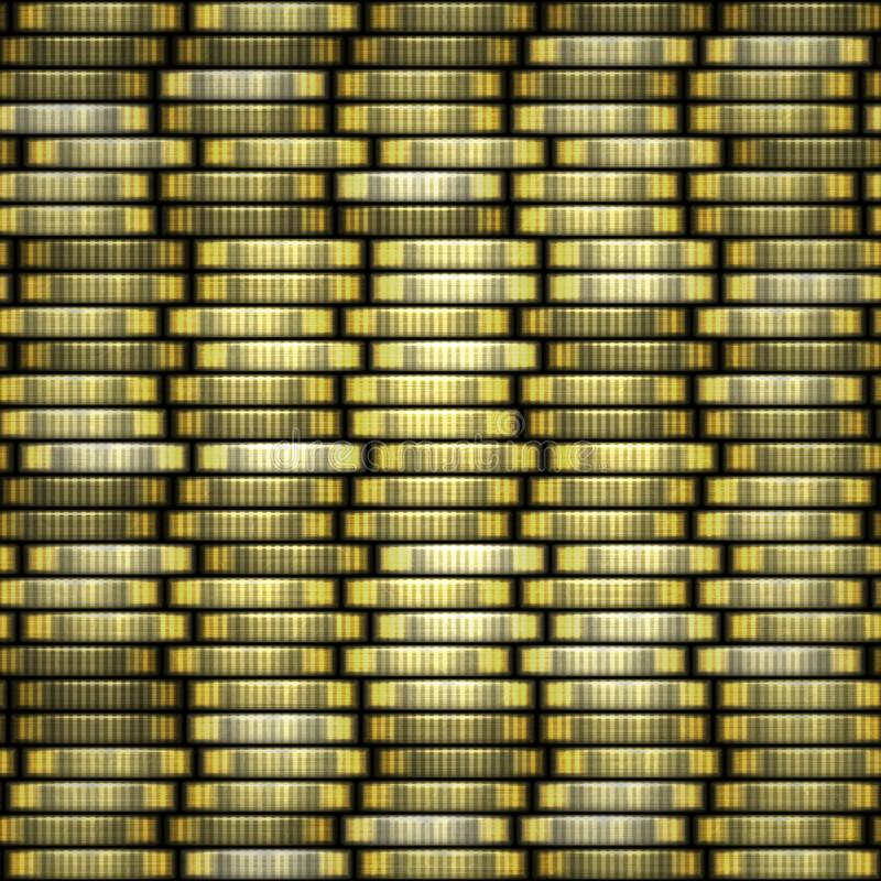 чеканит золото евро доллара Чеканьте текстуру стога безшовную - монетки в столбцах стоковая фотография rf