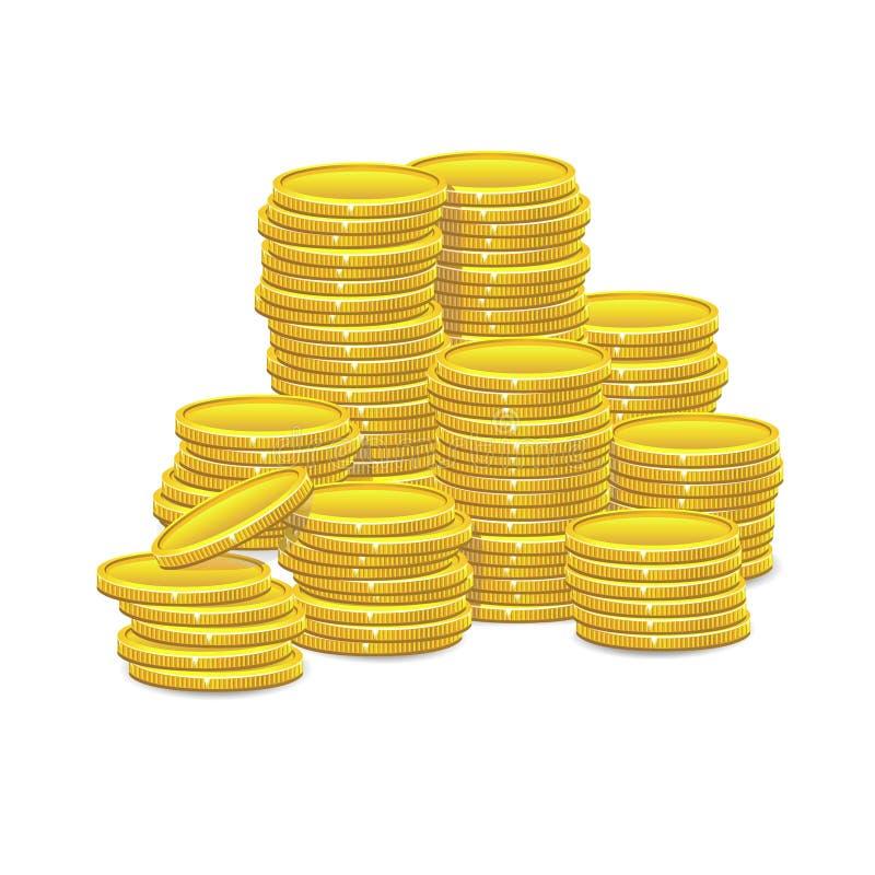 чеканит золото евро доллара иллюстрация вектора