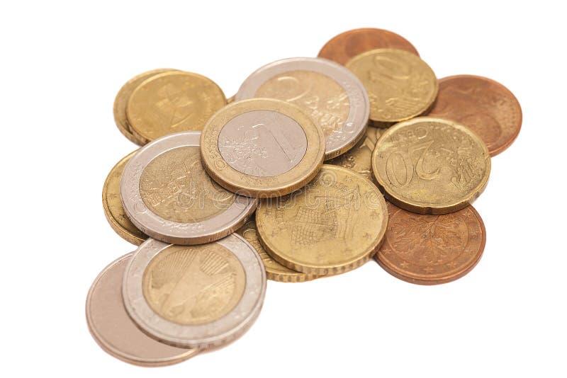 чеканит изолированное евро стоковые фотографии rf