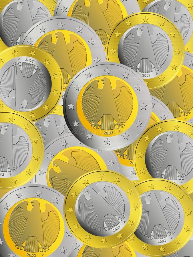 чеканит немца евро иллюстрация вектора