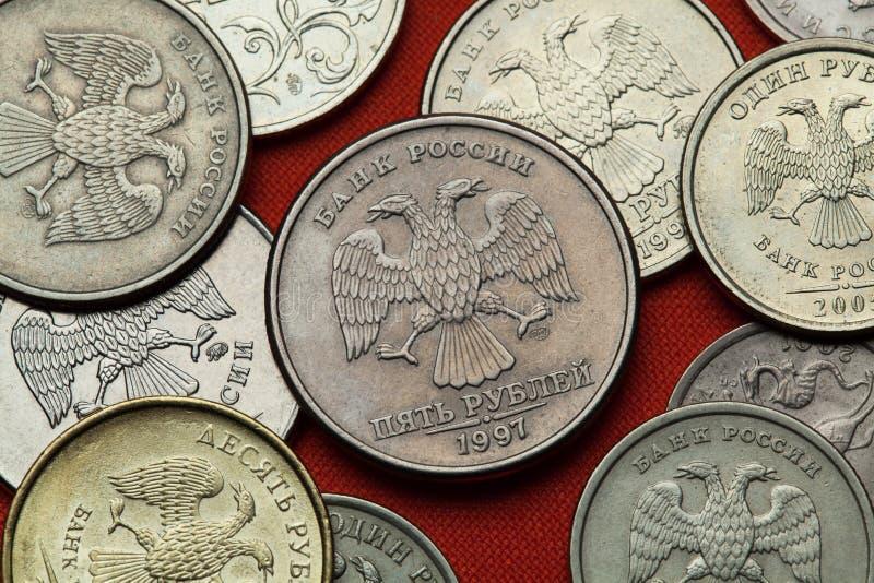 чеканит Россию Русский двуглавый орел стоковая фотография rf