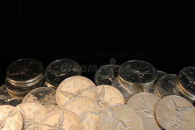 чеканит чисто серебр стоковая фотография rf
