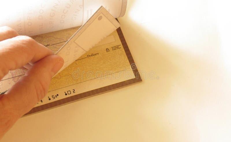 чеков чековый стоковое фото rf