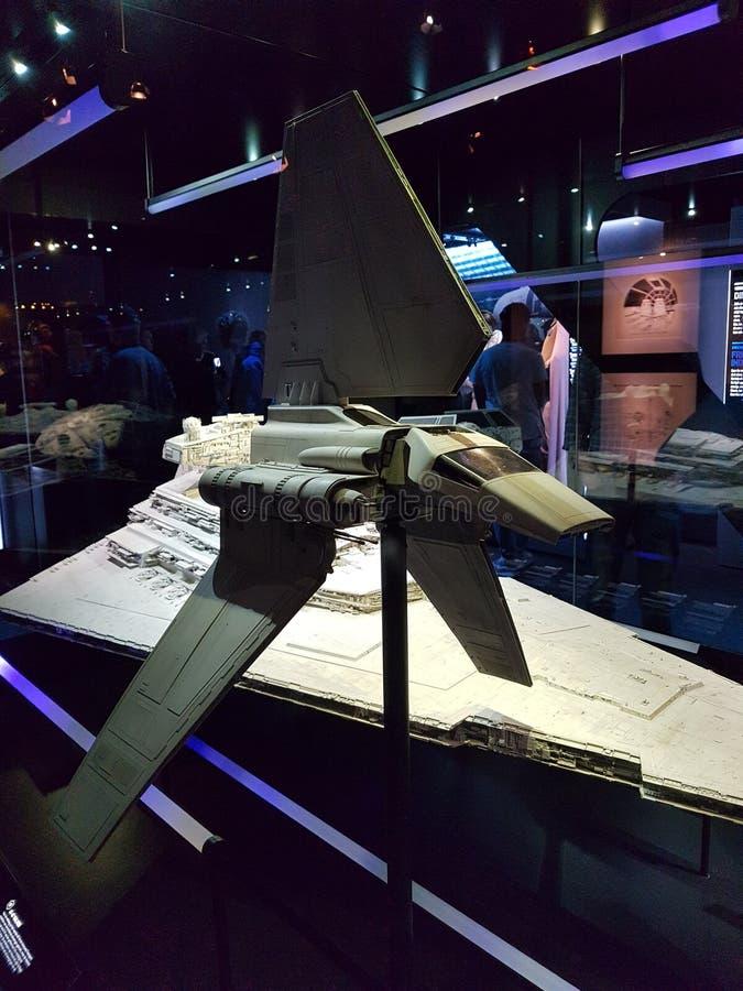 Челнок Звездных войн имперский стоковые фотографии rf