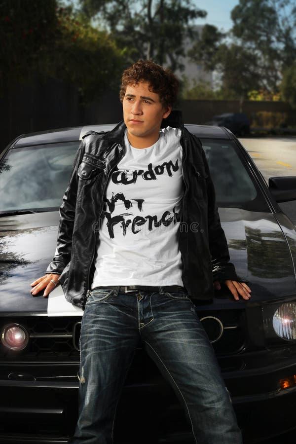 человек автомобиля стоковая фотография rf