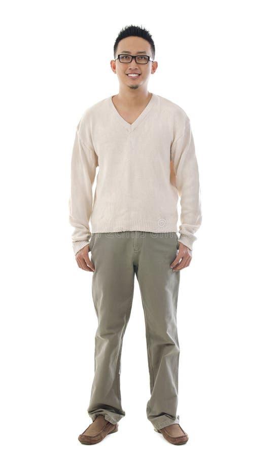 Человек азиата тела вида спереди полный стоковое изображение rf