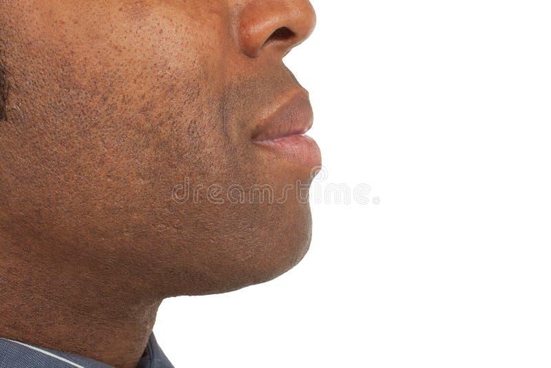 человек африканца близкий вверх стоковые фотографии rf