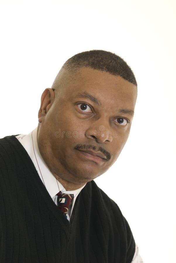 человек афроамериканца серьезный стоковые фото