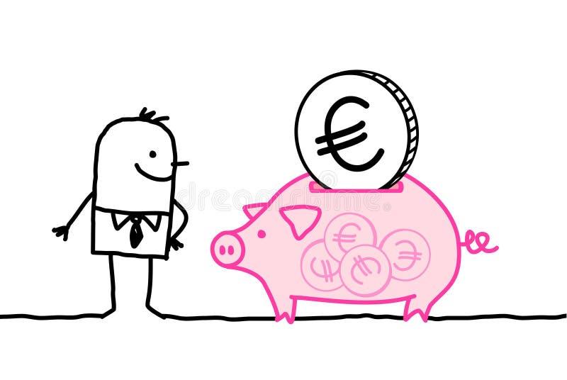 человек банка полный piggy бесплатная иллюстрация