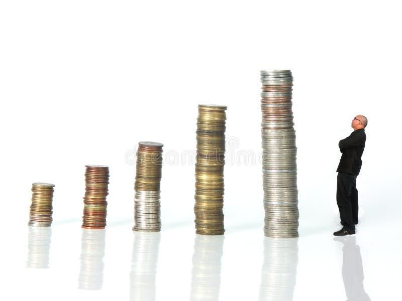 человек взгляда монеток стоковые фотографии rf