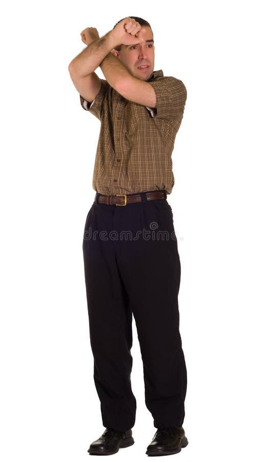 человек вспугнул стоковая фотография rf
