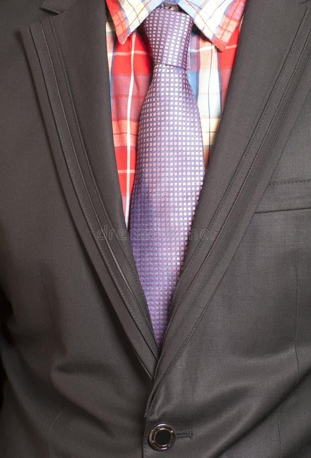 Человек в черном костюме и пурпуре стоковое изображение