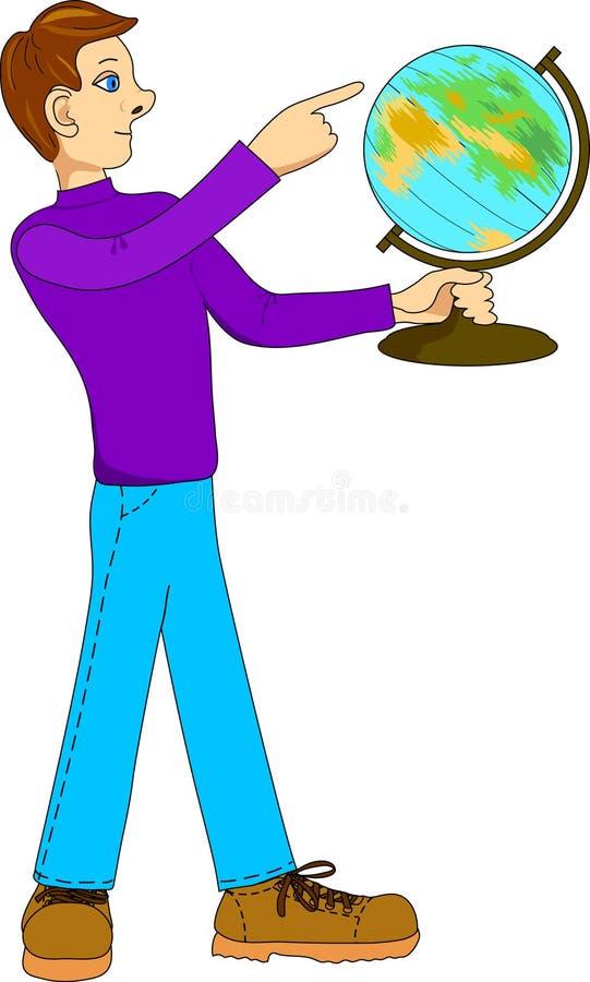 человек глобуса бесплатная иллюстрация